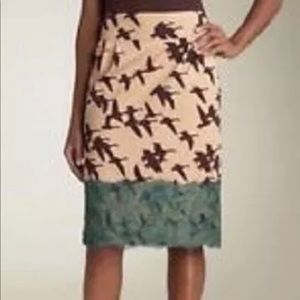 Anthropologie leifsdottir bird skirt